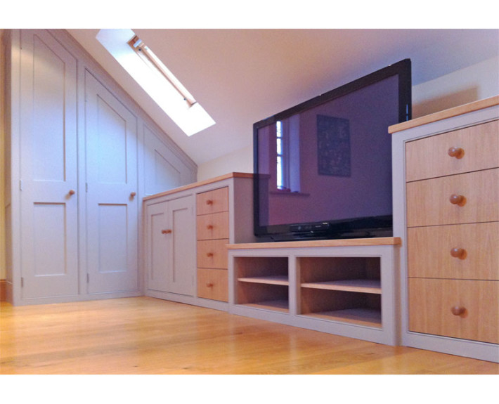 Under eaves attic den stocksfield dunham fitted furniture for Eaves bedroom ideas