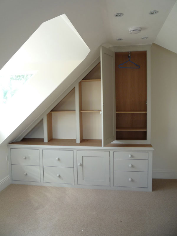 small low ceiling attic ideas - Furniture Attic and Under Eaves Cupboards Dunham