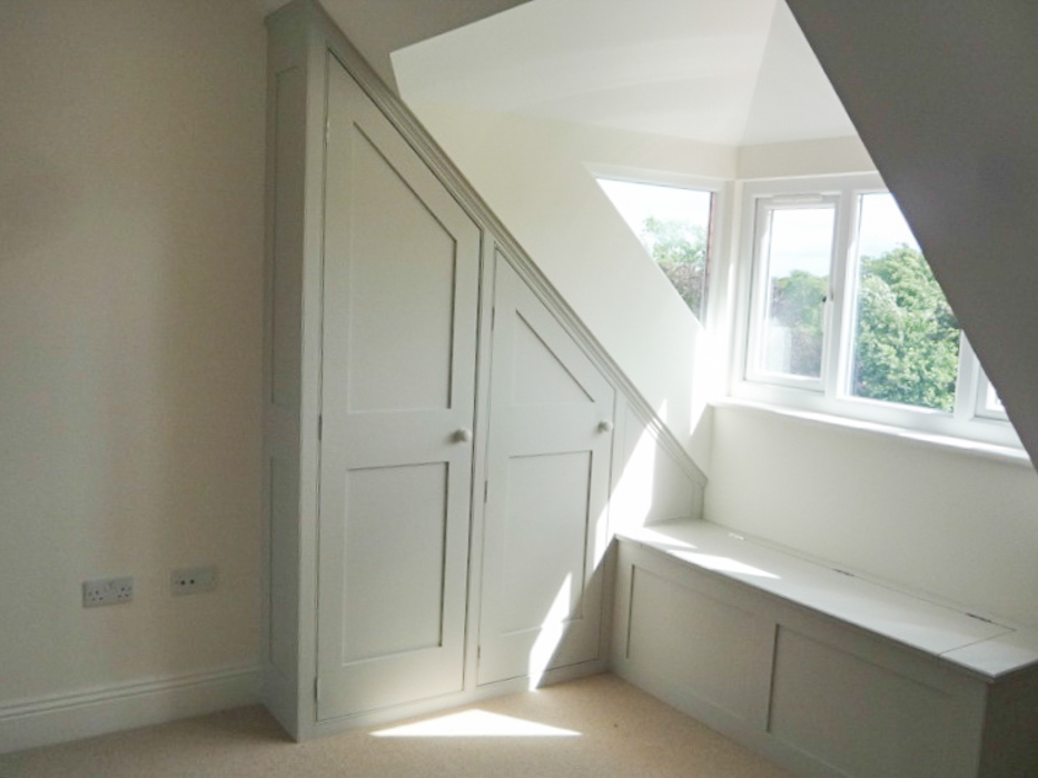 Furniture attic and under eaves cupboards dunham for Bathroom design under eaves